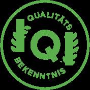 Bekenntnis zur Qualität